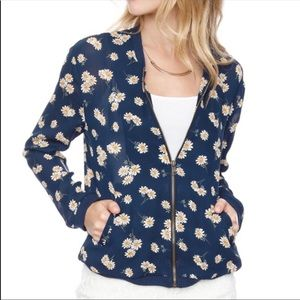 About A Girl Daisy Bomber Jacket